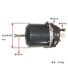 武进恒鑫 后桥刹车分泵(左)Φ16*1.5/120 杆长60mm,气管接口M16*1.5, 单皮膜